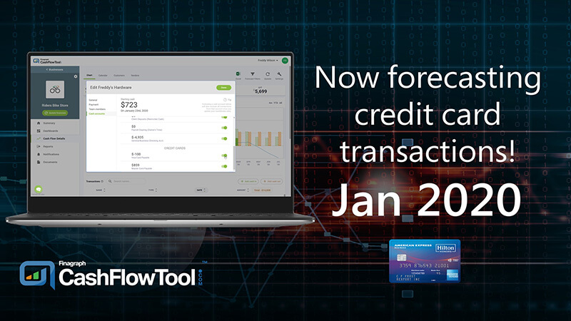 CashFlowTool now forecasts credit card transactions