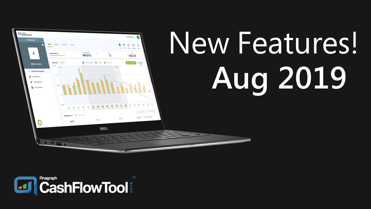 New Features - Aug 2019