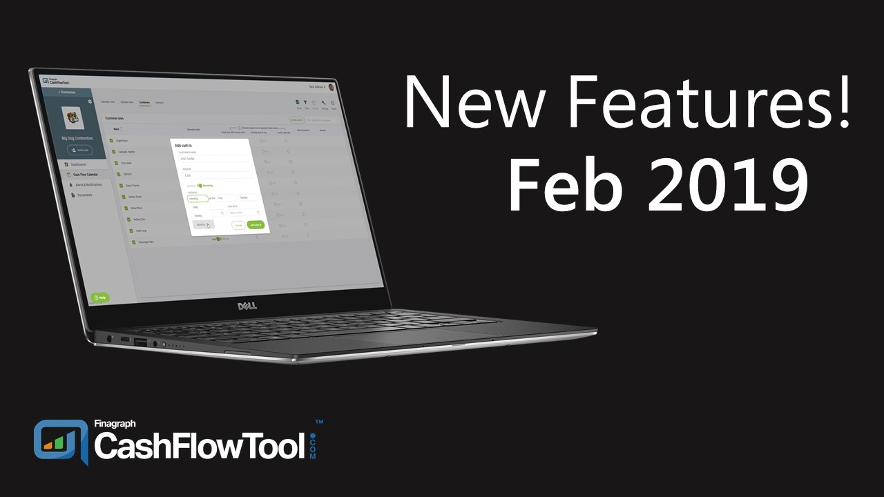 New Features - Feb 2019